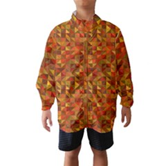 Gold Mosaic Background Pattern Wind Breaker (kids)