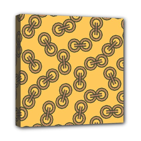 Abstract Shapes Links Design Mini Canvas 8  x 8
