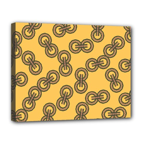 Abstract Shapes Links Design Canvas 14  X 11