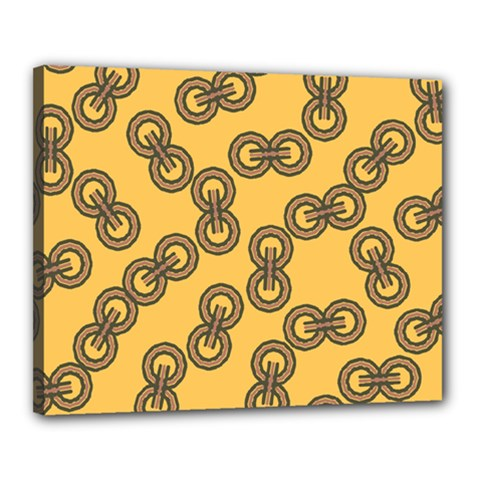 Abstract Shapes Links Design Canvas 20  X 16