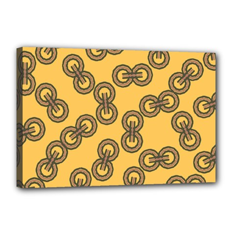 Abstract Shapes Links Design Canvas 18  X 12