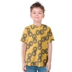 Abstract Shapes Links Design Kids  Cotton Tee