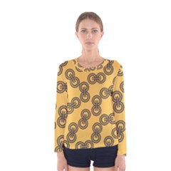 Abstract Shapes Links Design Women s Long Sleeve Tee