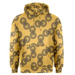 Abstract Shapes Links Design Men s Pullover Hoodie