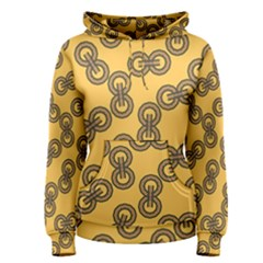 Abstract Shapes Links Design Women s Pullover Hoodie