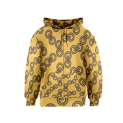 Abstract Shapes Links Design Kids  Zipper Hoodie
