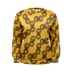 Abstract Shapes Links Design Women s Sweatshirt