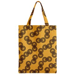 Abstract Shapes Links Design Zipper Classic Tote Bag