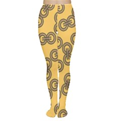 Abstract Shapes Links Design Women s Tights