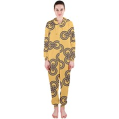 Abstract Shapes Links Design Hooded Jumpsuit (Ladies)