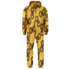 Abstract Shapes Links Design Hooded Jumpsuit (men)