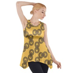 Abstract Shapes Links Design Side Drop Tank Tunic