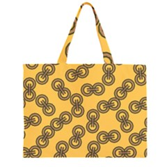 Abstract Shapes Links Design Large Tote Bag
