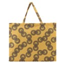 Abstract Shapes Links Design Zipper Large Tote Bag View1