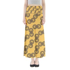 Abstract Shapes Links Design Maxi Skirts