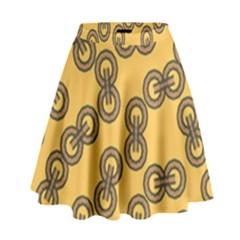 Abstract Shapes Links Design High Waist Skirt