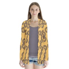 Abstract Shapes Links Design Cardigans