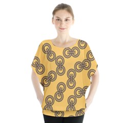 Abstract Shapes Links Design Blouse