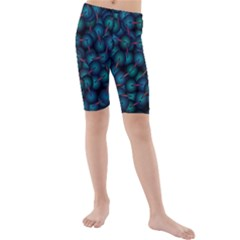 Background Abstract Textile Design Kids  Mid Length Swim Shorts