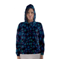 Background Abstract Textile Design Hooded Wind Breaker (Women)