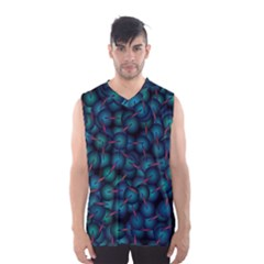 Background Abstract Textile Design Men s Basketball Tank Top