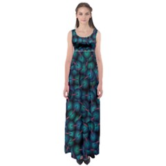 Background Abstract Textile Design Empire Waist Maxi Dress