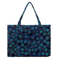 Background Abstract Textile Design Medium Zipper Tote Bag