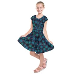 Background Abstract Textile Design Kids  Short Sleeve Dress