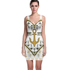 Anchor Heart Sleeveless Bodycon Dress