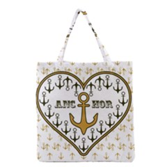 Anchor Heart Grocery Tote Bag
