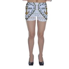 Anchor Heart Skinny Shorts