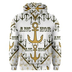 Anchor Heart Men s Pullover Hoodie