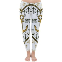 Anchor Heart Classic Winter Leggings