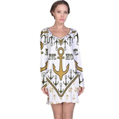 Anchor Heart Long Sleeve Nightdress