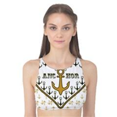 Anchor Heart Tank Bikini Top