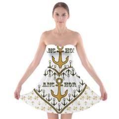 Anchor Heart Strapless Bra Top Dress