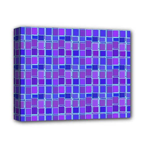 Background Mosaic Purple Blue Deluxe Canvas 14  x 11