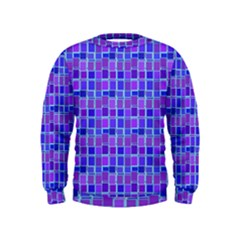 Background Mosaic Purple Blue Kids  Sweatshirt