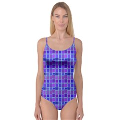 Background Mosaic Purple Blue Camisole Leotard