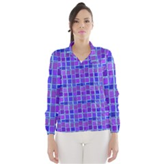 Background Mosaic Purple Blue Wind Breaker (women)