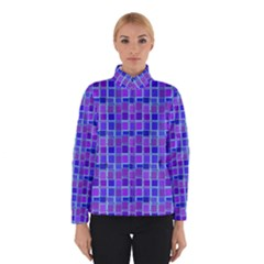 Background Mosaic Purple Blue Winterwear