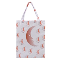 Moon Moonface Pattern Outlines Classic Tote Bag