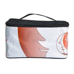 Moon Moonface Pattern Outlines Cosmetic Storage Case