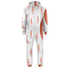 Moon Moonface Pattern Outlines Hooded Jumpsuit (Men)