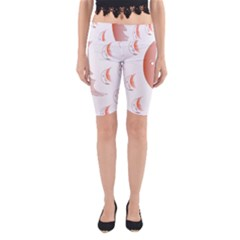 Moon Moonface Pattern Outlines Yoga Cropped Leggings