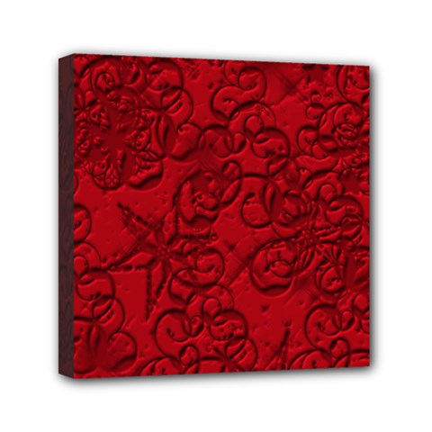 Christmas Background Red Star Mini Canvas 6  x 6