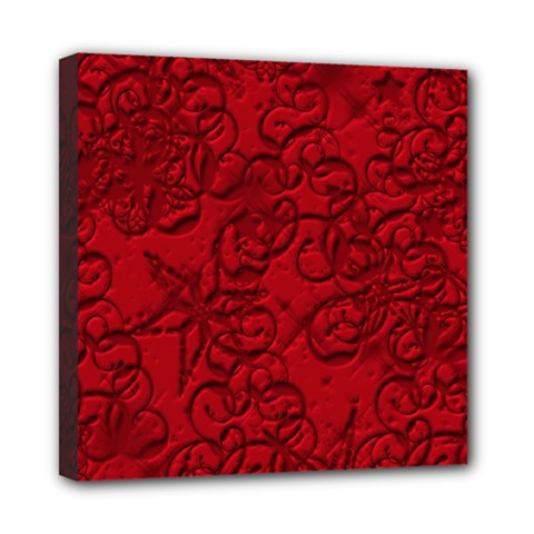 Christmas Background Red Star Mini Canvas 8  x 8