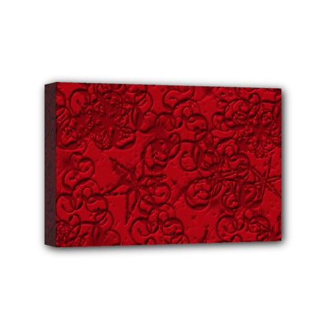 Christmas Background Red Star Mini Canvas 6  X 4