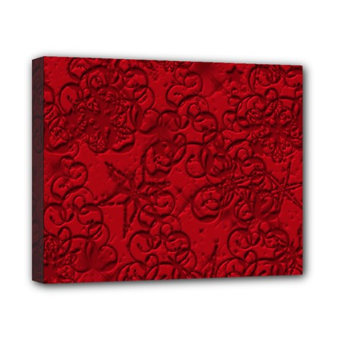Christmas Background Red Star Canvas 10  X 8