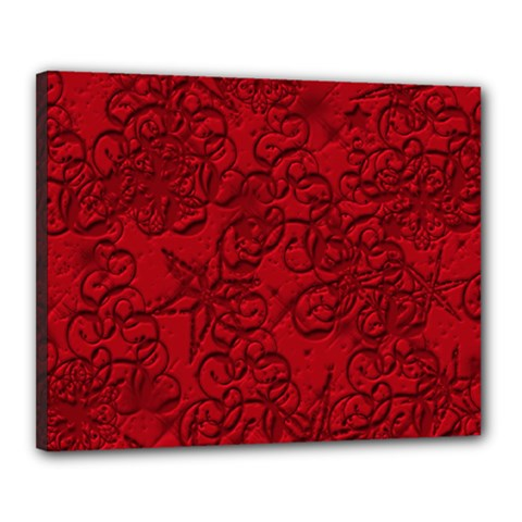 Christmas Background Red Star Canvas 20  x 16